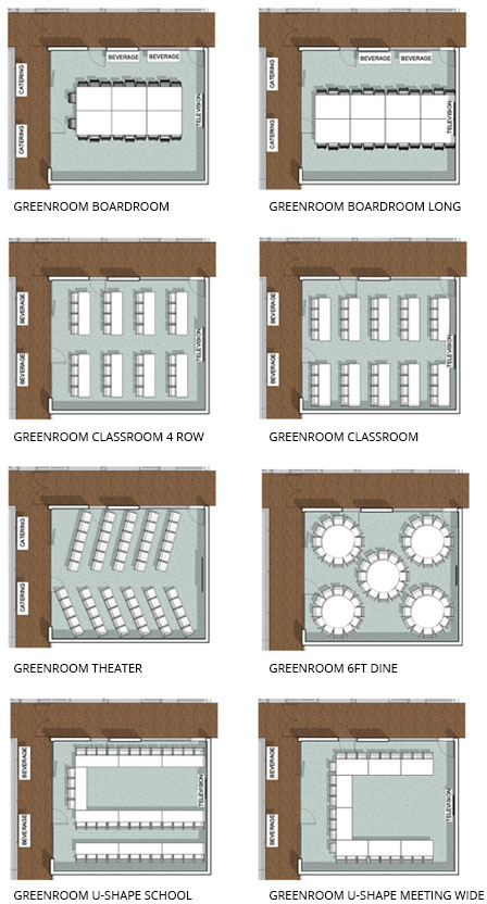 Green Room Floorplans